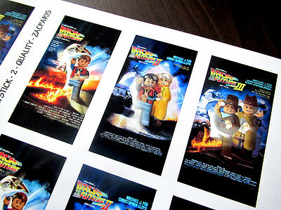 CUSTOM CINEMA STICKER SET for Lego 10232 10184 - BACK TO THE FUTURE TRILOGY 3