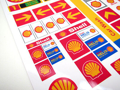 CUSTOM CITY - TOWN - SHELL STICKERS  for SETS Lego 1253 1255 1256 and more! 3