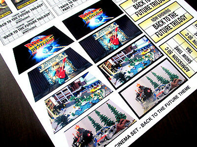 CUSTOM CINEMA STICKER SET for Lego 10232 10184 - BACK TO THE FUTURE TRILOGY 5