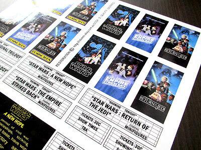 CUSTOM CINEMA STICKER SET for LEGO 10232 10184 -STAR WARS ORIGINAL TRILOGY THEME 6
