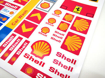 CUSTOM CITY - TOWN - SHELL STICKERS  for SETS Lego 1253 1255 1256 and more! 2