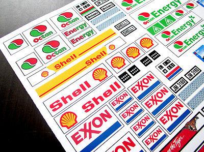 CUSTOM TRUCK STICKERS for OCTAN SHELL EXXON DHL TOYS, LEGO 3180 60016 1252  , ETC