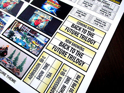 CUSTOM CINEMA STICKER SET for Lego 10232 10184 - BACK TO THE FUTURE TRILOGY 6