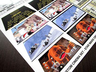 CUSTOM CINEMA STICKER SET for LEGO 10232 10184 -STAR WARS ORIGINAL TRILOGY THEME 3
