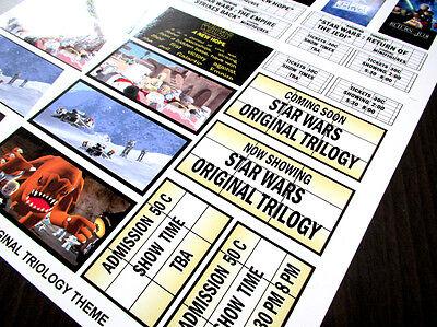 CUSTOM CINEMA STICKER SET for LEGO 10232 10184 -STAR WARS ORIGINAL TRILOGY THEME 5