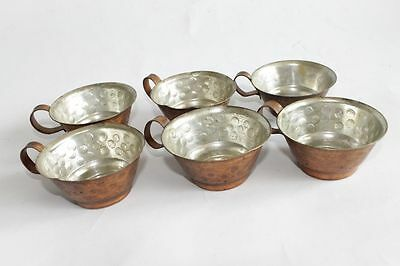 Antique Ottoman Copper Coffee Pot With Cups Set 19 Century 5
