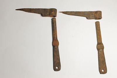 Antique Bulgarian Pair Iron Henges B.P. 18 Century