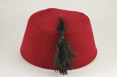 Vintage Red FEZ Ottoman Hat With Tassle
