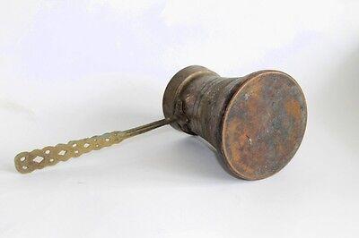Antique Ottoman Empire Copper Coffee Pot Decorated 19 Century 4