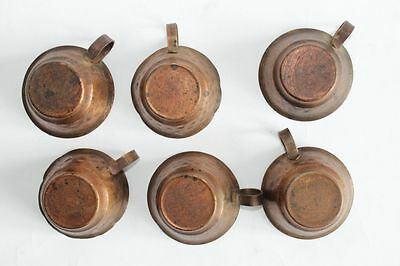 Antique Ottoman Copper Coffee Pot With Cups Set 19 Century