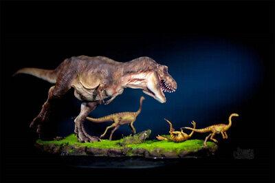 Tyrannosaurus Rex Prey Gallimimus Statue Dinosaur Model Animal Toy Collector GK 5
