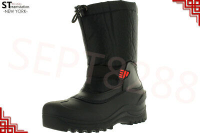 L&M Men's Black Winter Snow Boots Shoes Warm Thermolite Waterproof 2008 2