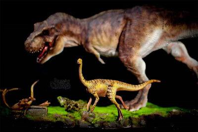 Tyrannosaurus Rex Prey Gallimimus Statue Dinosaur Model Animal Toy Collector GK 2