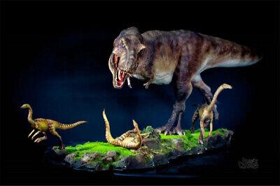 Tyrannosaurus Rex Prey Gallimimus Statue Dinosaur Model Animal Toy Collector GK 3