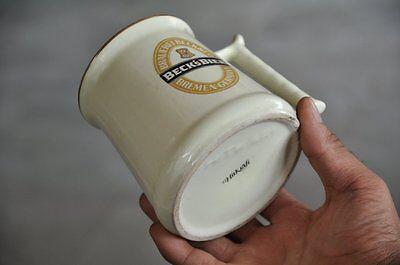 Vintage Beck's Key Trademark Hitkraft Unique Shape Ceramic Cup , Germany 7