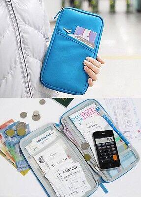 Reisepass Etui Reise Brieftasche Travel Wallet Reise Börse Organizer Reisemappe