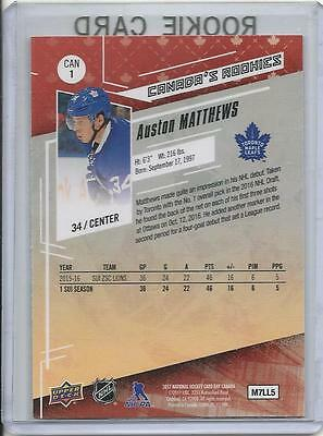 16 17 Upper Deck Ud Auston Matthews Rookie Card Rc 1 National Hockey Card Day