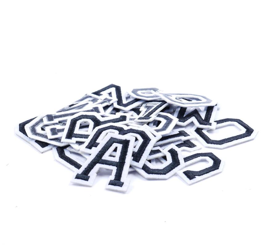Patch Toppa Alfabeto Lettere Alphabet Personalizzate Ricamata Termoadesiva 5cm 4