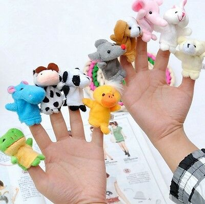 10Pcs Finger Puppets Cloth Doll Baby Educational Hand Cartoon Animals Toys Gift 2