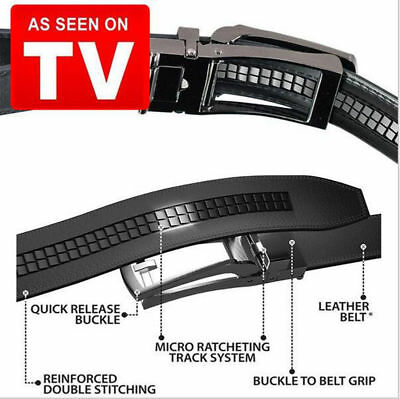 US! COMFORT CLICK Leather Belt Automatic Adjustable Xmas Men Gift As Seen On TV 5