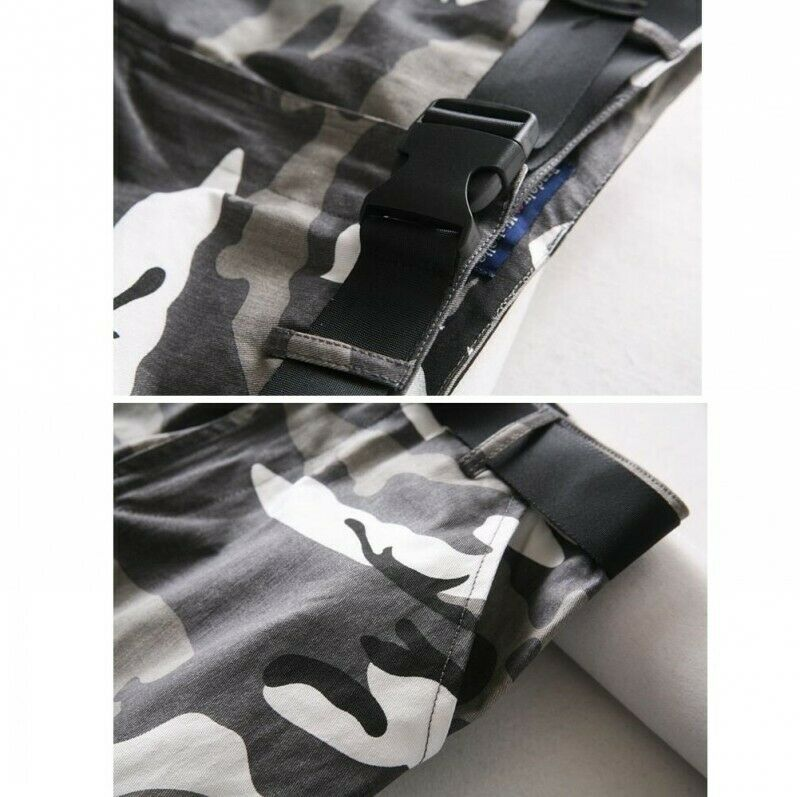 Womens Camouflage Hiphop Military Overall Pants Casual Outdoor Trousers Sbox4 9