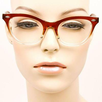 64902df1edc0a ... Sexy Cat Eye Pin up Ombre Demi Kitti Eyeglasses Glasses Gradient  Vintage Frames 12