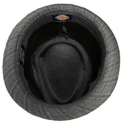 67d24b44f14d Men's Dickies Fedora Cap 50's Style Big Band Pinstripe Trilby Hat -S/ New!