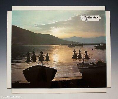 Konvolut 5 x Agfacolor Reklame Aufsteller Urlaubsmotive um 1970-1971 4