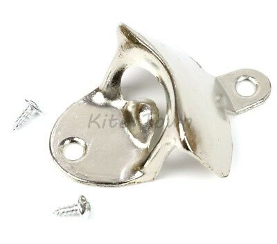 10 pcs Stainless Steel silver Wall Mount Beer soda Bottle Opener with Screws US 4