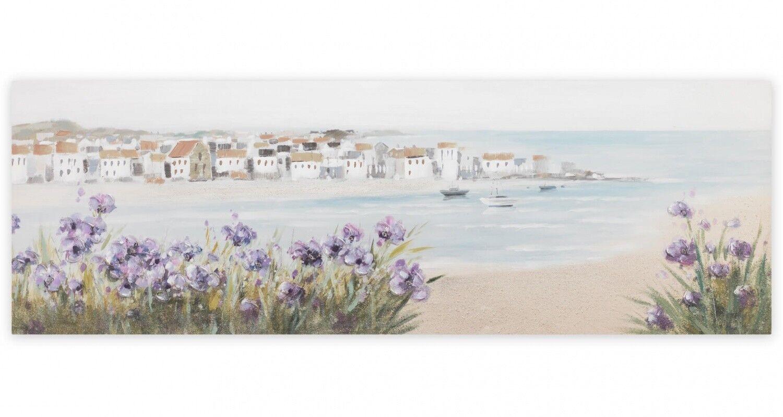 Acryl Gemälde 'MEDITERRANER TRAUM' | HANDGEMALT | Leinwand Bilder 150x50cm 11