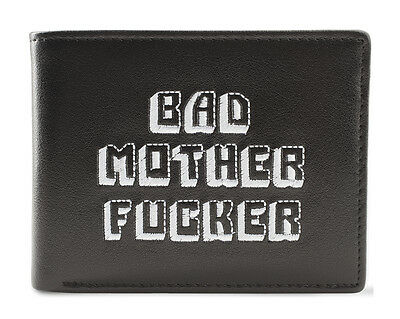 Black and White Embroidered BMF (Bad Mother Fu**er) Pulp Fiction Leather Wallet 2