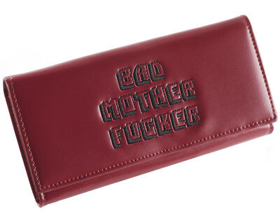 Pink Clutch Embroidered BMF (Bad Mother Fu**er) Pulp Fiction Leather Wallet 2