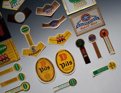 30 x verschiedene Etiketten WICKÜLER BIER + ANDERE um 1955-1968 5