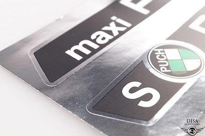 Puch Maxi S Tank Aufkleber Satz Sticker Chrom Schwarz Neu