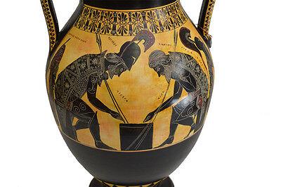 Achilles and Ajax - Exekias - Ancient Greek Amphora Vase- Vatican Museum Replica 2