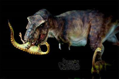 Tyrannosaurus Rex Prey Gallimimus Statue Dinosaur Model Animal Toy Collector GK 9