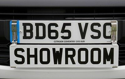 Showroom Show Display Number Plate Holders Clip On Spring Loaded Trailer Bracket 9