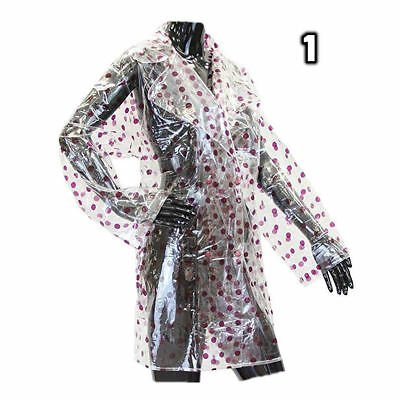 Transparent Clear Womens Girls Rain Coat Ears Festival Camping Raincoat Mac