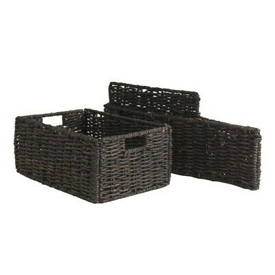 Winsome Granville Set of 2 Medium Foldable Baskets in Chocolate 3