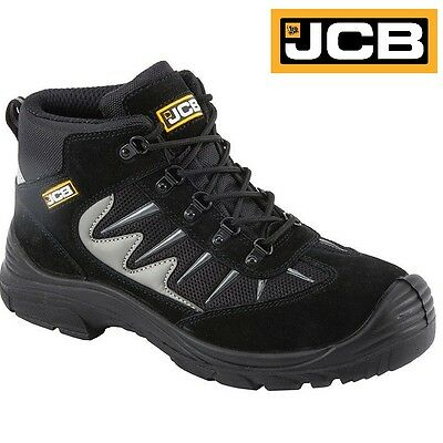 JCB Mens Lightweight S1P Steel Toe Cap /& Midsole Safety Boots Work Trainers Size