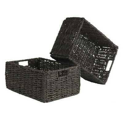 Winsome Granville Set of 2 Medium Foldable Baskets in Chocolate 2