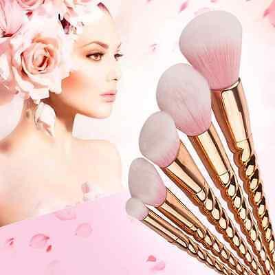 10Pcs Pro Makeup Brushes Set Foundation Blusher Face Powder Eye Cosmetic Brush 9