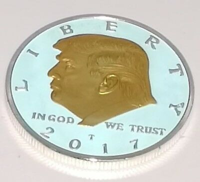 Donald Trump Silver & Gold Dollar City Coin President of the United States Man 5