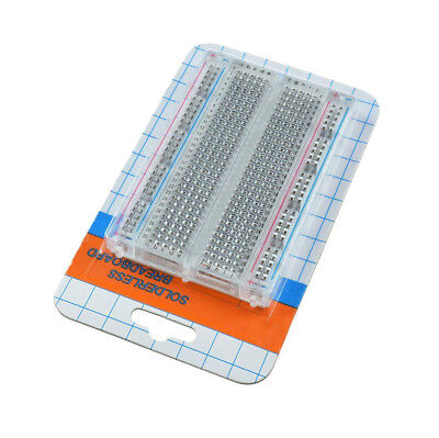 Mini Solderless Breadboard Transparent Material 400 Points Available DIY ATF 4