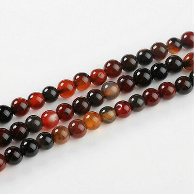 Lots Natural Carnelian Round Gemstone Loose Spacer Beads Jewelry 4/6/8/10/12mm 4