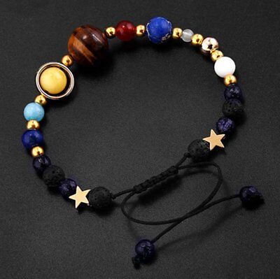 Universe Planets Bead Bangles Natural Solar System Energy Bracelet For Women Men 4