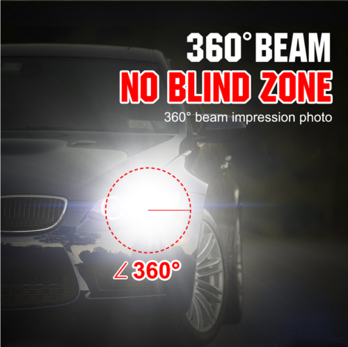 2019 New 4-Side H4 LED Headlight Car Bulbs 300W 36000LM High And Low Beam Bright 3