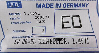Parker Ermeto gerade Schottverschraubung SV 06-PL OEL+Fettfr.  | 1.4571 4