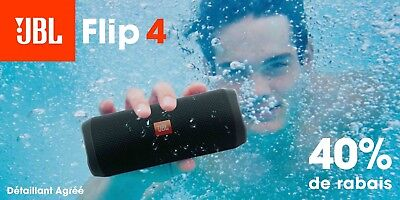 JBL Flip 4 Waterproof Portable Bluetooth Speaker - Black *Authorized Dealer* 4