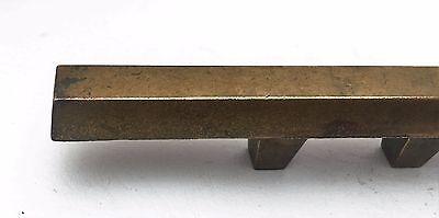 """Brass Mid Century Modern Drawer Pull Vintage  Antique Hardware  1 3/8"""" centers 3"""